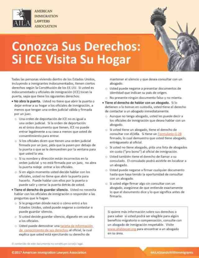 Si ICE Te Detiene en Casa Guia Informativa