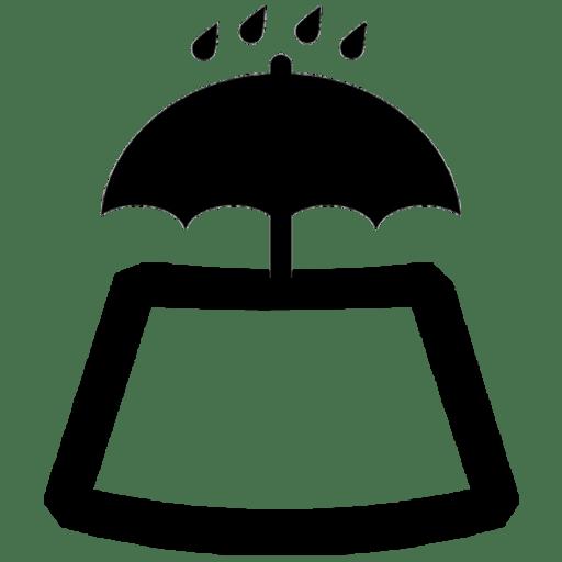 Valle d'Aosta Glass trattamento anti pioggia Parapluie