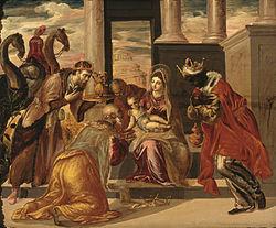 Adoración de los Magos por El Greco, 1568.