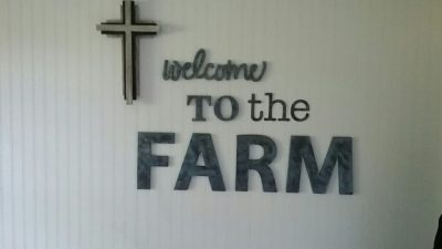 at the farm welcome