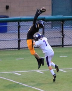 Let's say that Joseph Slomer caught this with Cody Creek defending