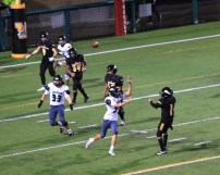 Ioseph FLores throws for the end zone
