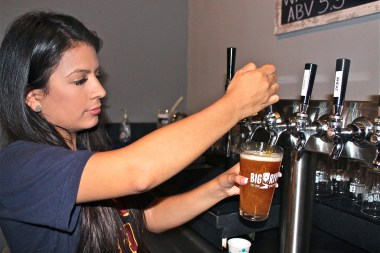 There are several craft brews ready and on tap to choose from at the Big River Brewery. (VBR)