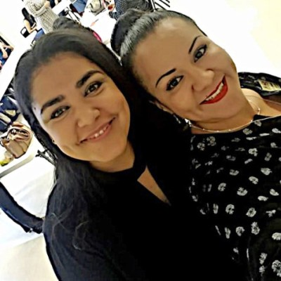 Businesswoman Elizabeth Aguilera Davis, left, and Laura Robles of the McAllen Chamber of Commerce at a recent meeting of Latina Hope. (Courtesy)