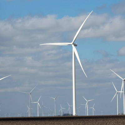 Wind farm construction in the Raymondville area is part of what has driven sales tax revenue percentage increases. (VBR)
