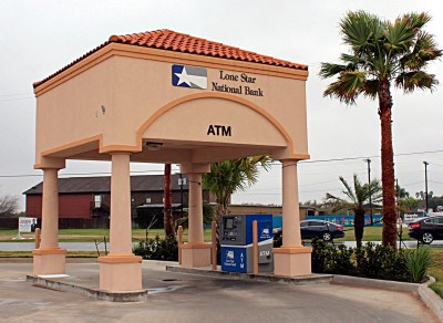 The ATM is complete and open for business at Lone Star National Bank's newest Edinburg location. (VBR)
