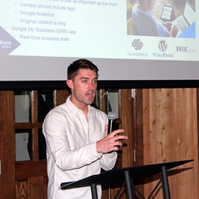 Websites_Haight: Spectrum digital expert Ben Haight delivered a presentation on best practices for business websites at a seminar hosted by the McAllen Chamber of Commerce. (VBR)