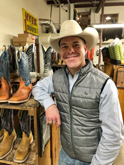 Ryan Vaughan was recently promoted from general manager to president and chief executive officer of bootmaker Rios of Mercedes. (VBR)