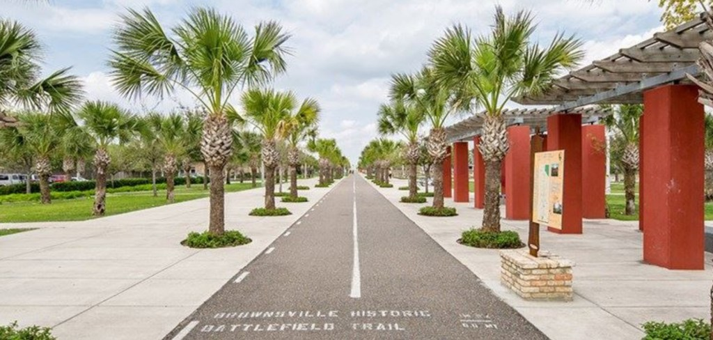 Brownsville's Historic Battlefield Trail is a nine-mile hike-and-bike path that runs north and south through the middle of the city. (Courtesy)
