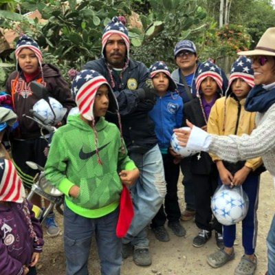 Mitch D'Arte with villagers from one of the remote communities in San Luis Potosi. (courtesy Mitch D'Arte)