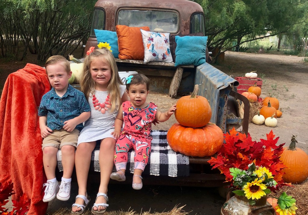 One of the rustic and charming photo set ups, perfect for fall photos.
