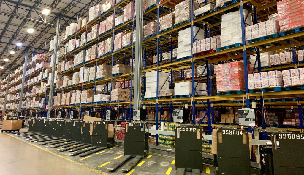 H-E-B's 408,000-square-foot Weslaco Retail Support Center serves 42 of H-E-B's stores with thousands of items.