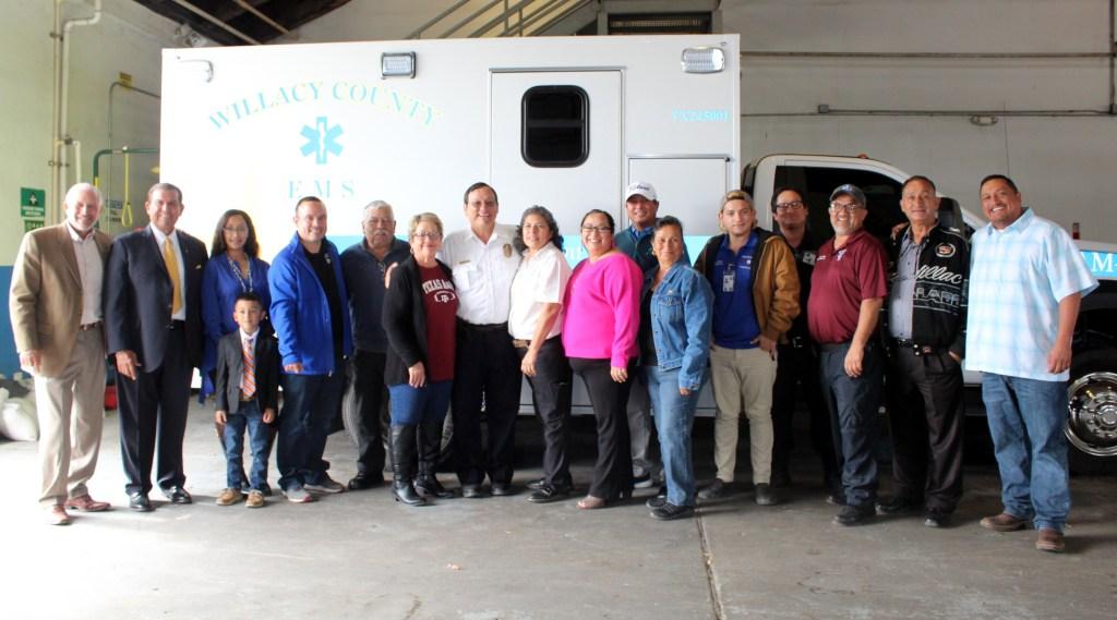 Frank Torres with relatives and, far left, Manny Vela and Texas Sen. Eddie Lucio Jr.
