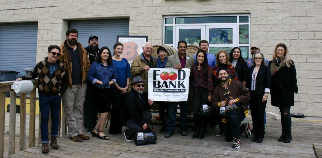 The IMAS and Food Bank RGV kick off Empty Barrels project at 5x5 Brewing Co. with Brew-seum committee and supporting partners. Empty Barrels will raise food and funds for the Food Bank RGV and on final display at Brew-seum on April 4.