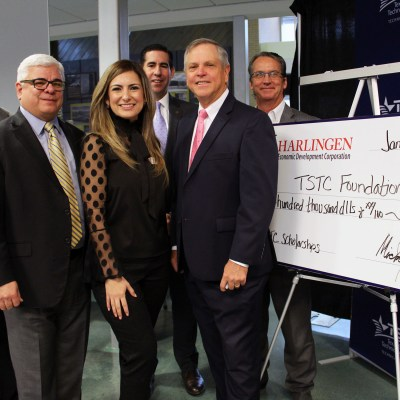 Harlingen EDC donates $100,00 to the TSTC Foundation.0