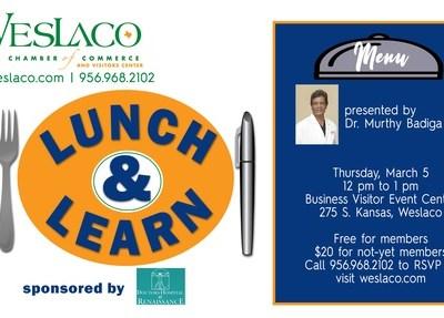 Dr. Murthy Badiga lunch and learn