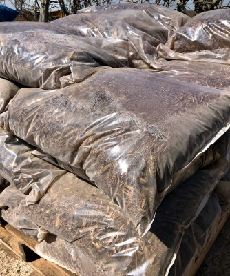 Bags of premium composite are among the products for sale at the facility.