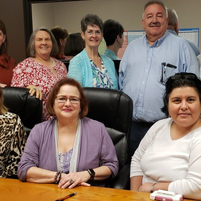A group of public-school employees and retirees recently met recently in McAllen to establish a legislative agenda for the 2021 legislative session in Texas. Seen here are, back, retirees Chris Ardis, Kathy Johnson, Debbi Benson, Jerry Albrecht and Herb Trevino; front, retirees Chiqui Guerra and Torchie Champion with current public-school employee Norma Guerra.