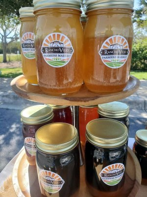 Jams and honey are among the many product offerings of the Rancho Viejo Farmers Market, which saw a quick revamping in operations due to the coronavirus crisis. (Courtesy)
