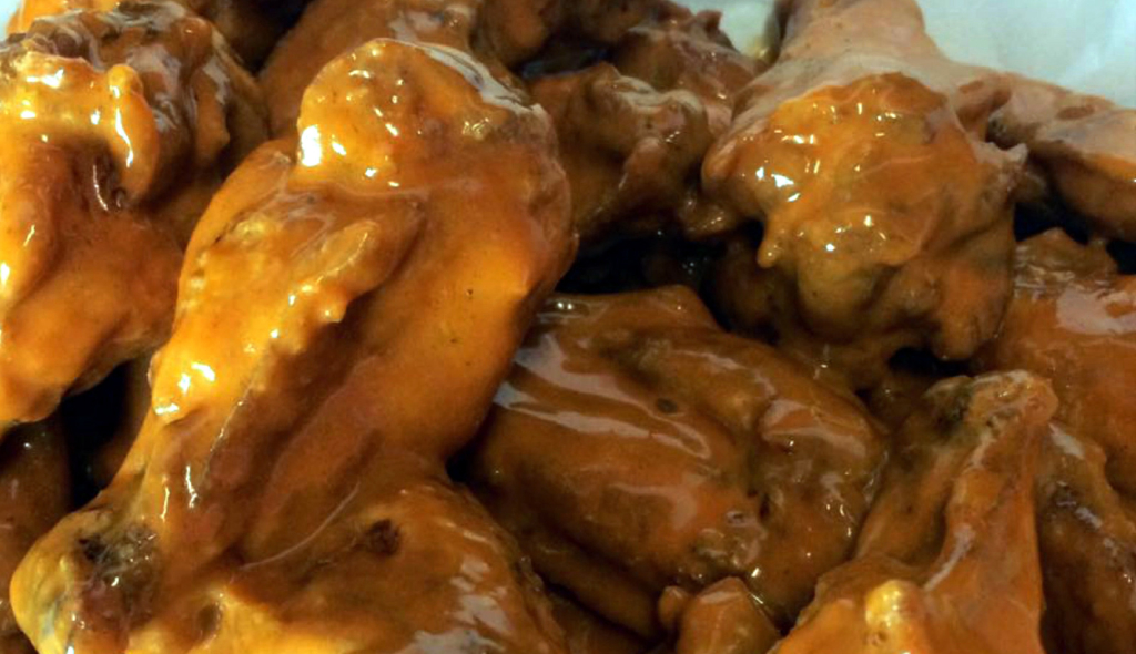 Wing Barn's offers chicken wings coated with one of 18 sauces created by the owners. (VBR)