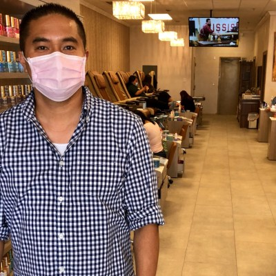 Dien Nguyen says business is returning to his nail salon in San Juan. (VBR)