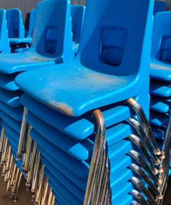 Chairs for a school settings or home learning are among top sellers at RGV Surplus.