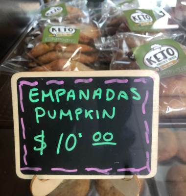 Keto Sweets & Treats in Alamo bakes and sells keto-style empanadas.