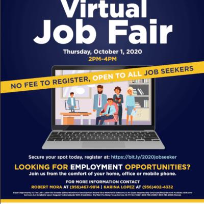 Pharr Virtual Job Fair flyer