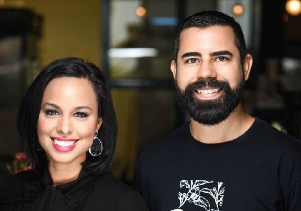 Michelle and Danny Quiroz, owners of Reserva Coffee Roasters and winners of the Lower Rio Grande Valley District's Small Business Persons of the Year