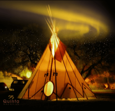 Authentic tipis from the Lipan Apache Band of Texas honor of their family's heritage at ILLUMINA Fest 2020.