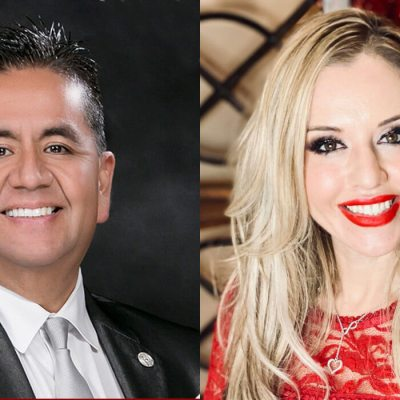 Mario Lizcano and Linda Tovar, Edinburg Chamber of Commerce's Man & Women of the Year.