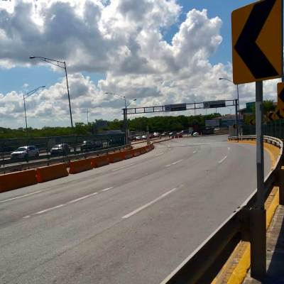 Traffic at international bridges like this one in Brownsville are restricted.