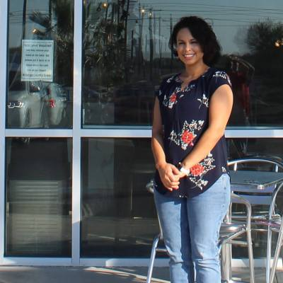 Michelle Quiroz's coffee shop looks global but has local elements.