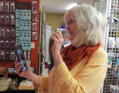 Jeanie Rowell conducts an online Sit-n-Knit session every Wednesday.