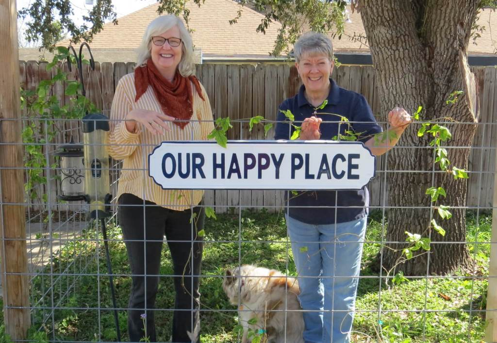 The smiles on the faces of Jeanie Rowell and Ann Gamblin of The Lamb's Loom in McAllen say it all. This little piece of heaven is, indeed, their Happy Place.