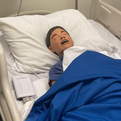 "This lifelike simulator (aptly named ""Junior"" by students and faculty) is one of the new pieces of technology in the TSTC Nursing program classroom. (photo TSTC)"