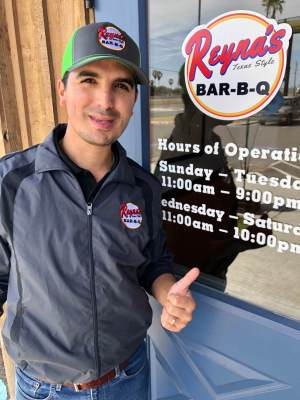 Zeke Reyna is a young entrepreneur who operates two busy barbecue restaurants in the Rio Grande Valley.