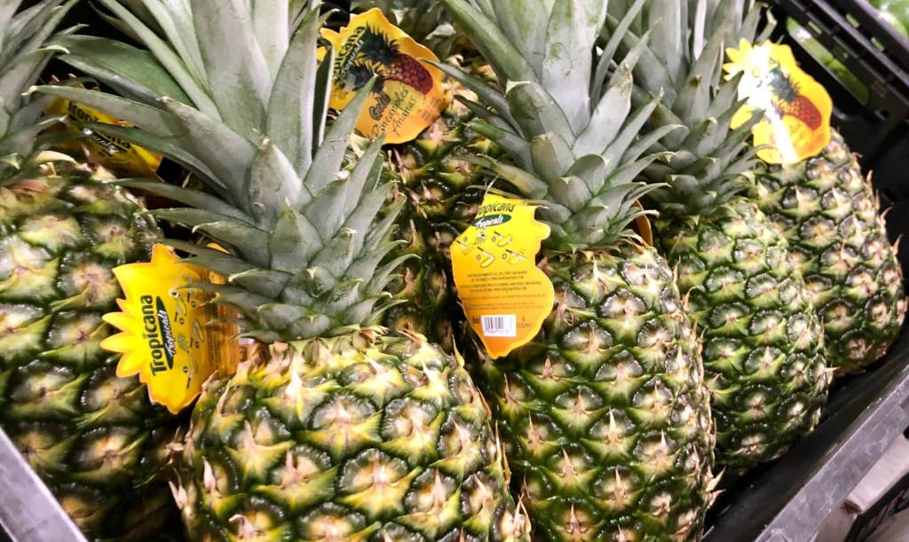Pineapples are among the products coming from Latin America to the Robinson Fresh facility. (VBR)