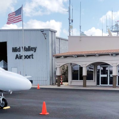 The Mid-Valley Airport has had its corporate business travel grow in recent years.