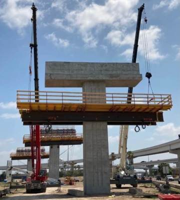 The Pharr Interchange project began in Sept. 2020 and will take three years to complete. (Courtesy)