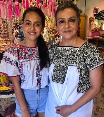 Roxy Trevino and her mother, Roxanne Trevino, are part of the family group who owns and operates Nana's Taqueria.