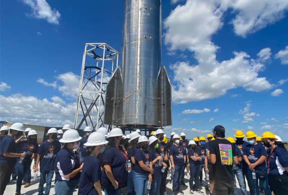 TSC's 21st Century Community Learning Centers middle and high school students from Brownsville Independent School District tour SpaceX as a way to expose students to STEM careers in the region. (photo TSC)