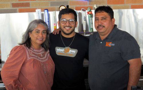 Jose Silva, far right, counts his family as his greatest blessing. That includes his wife, Angeles, and his youngest brother, Marcos.