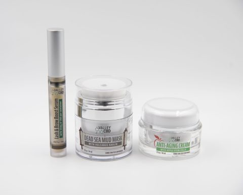 Lash and Brow Serum, Anti Aging Stem Cell Cream, & Dead Sea Mud Mask by Valley CBD