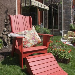 Adirondack Chair With Ottoman Plans Directors Replacement Covers Wood Work Pull Out Footrest