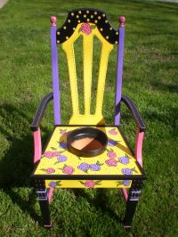 Unique Painted Chairs For Your Garden   Valley Gardening
