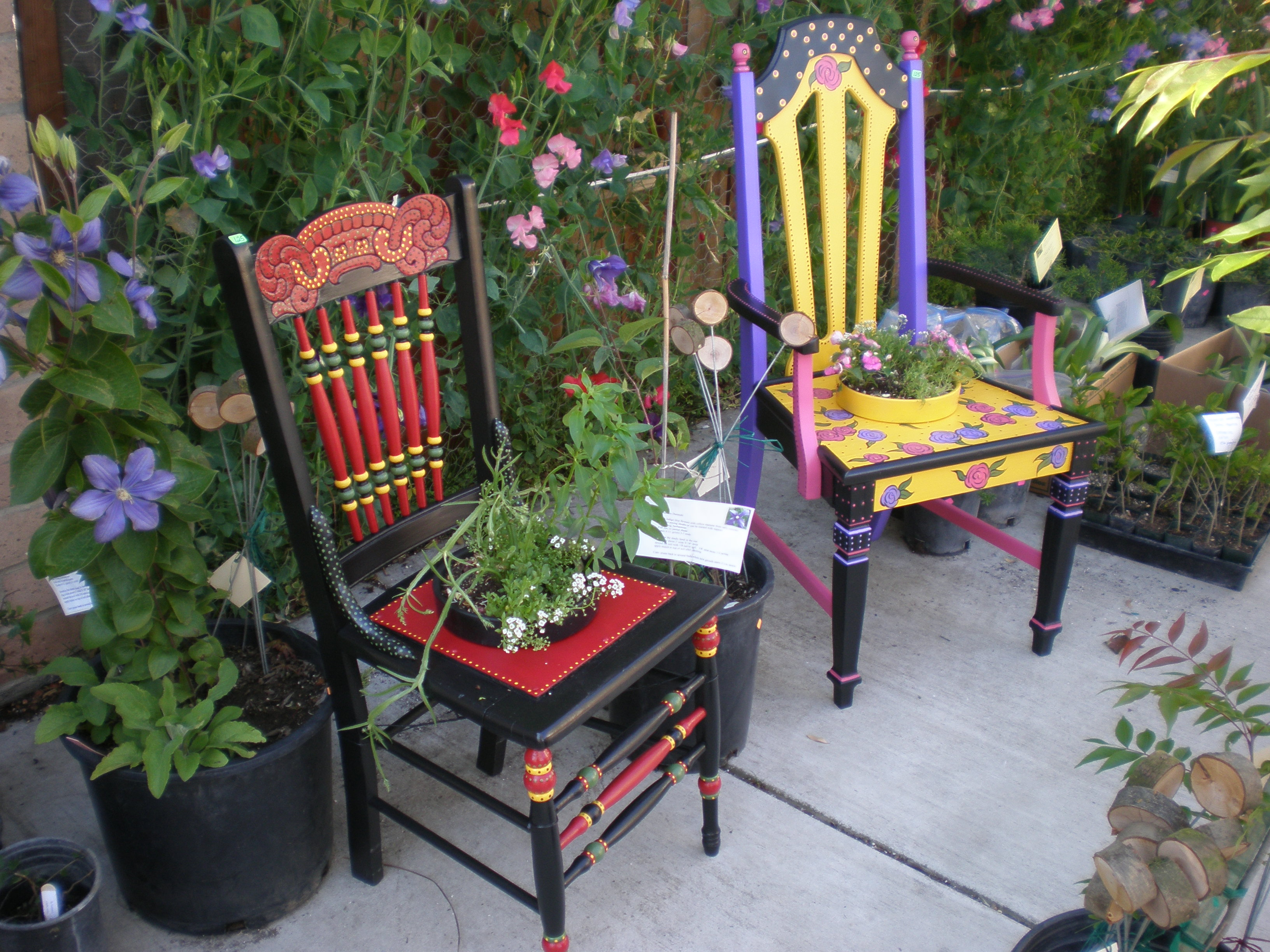 Garden Chair Unique Painted Chairs For Your Garden Valley Gardening