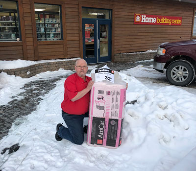 AttiCat expanding blow-in insulation in Canmore, Valley Home Building Centre.