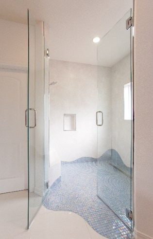 bathroom remodel unique tile, picture