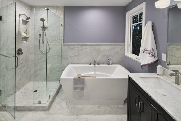 bathroom remodel accent wall, picture